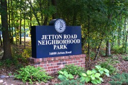 Entrance Sign for Jetton Road Neighborhood Park