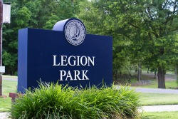 Entrance Sign at Legion Park