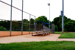 Ballfield bleachers at Torrence Chapel Park
