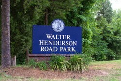 Entrance sign for Walter Henderson Park